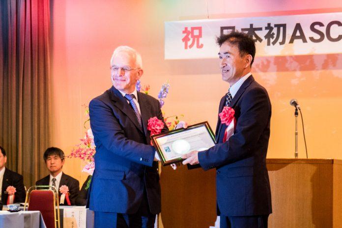 南三陸町が日本初の認証です! ASC認証取得伝達式