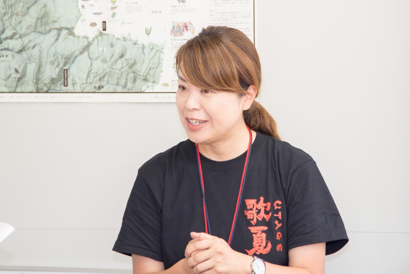 南三陸応縁団の立ち上げに関わった産業振興課観光振興係の宮川舞さん