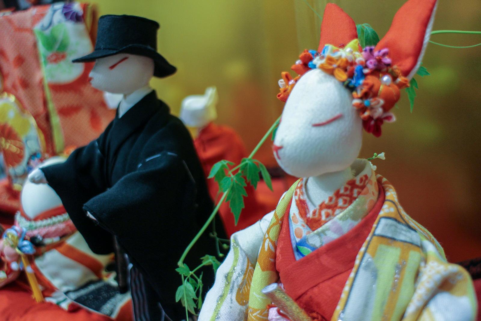 南方仮設にお住いの生出さんの花嫁人形 なんとも繊細で艶やかです